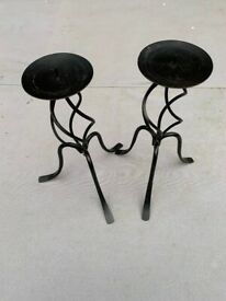 Pair Black Candle stands