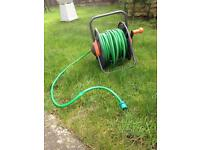 98 foot long hose reel