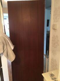 2 brown doors