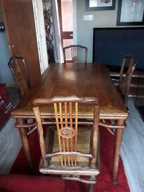 vintage table with four chair