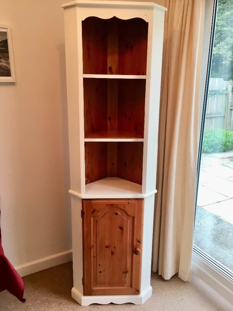 Painted Pine Corner Cupboard Shabby Chic Cabinets