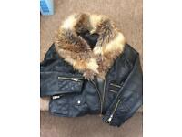 River island leather jacket 16