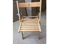 4 Fold up Ikea chairs