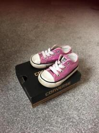 Girls infant size 5 converse