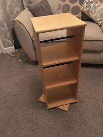 DVD stand which spins
