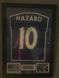 Framed signed Eden Hazard with COA