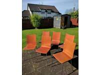 6 wooden outdoor sturdy chairs VGC