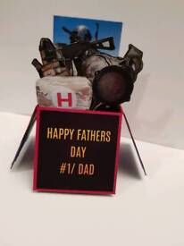 Personalised PUBG Fathers Day Popup box Cards Xbox One