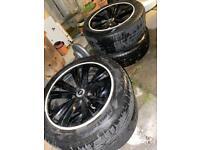 """18"""" white trim alloys with good tyers"""