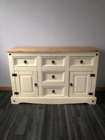 Solid pine shabby chic sideboard Mexican pine