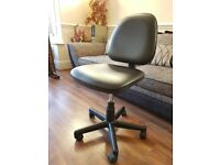 Excellent Condition Black Faux Leather Office Chair/Seat or Study Chair-Height Adjustable