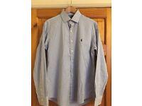 "Polo Ralph Lauren Blue & White Stripe Shirt 16"""