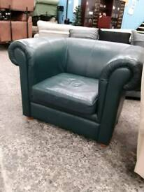 Modern Sea Green Armchair. Delivery Available