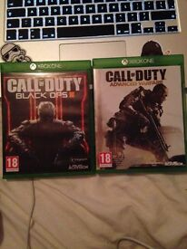 Xbox one Games Call of Duty Black Ops 3 + Call of Duty Advanced Warfare