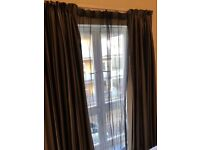 luxurious black and gold striped curtains with black out lining