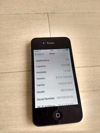iPhone 4 black unlocked 16Gb w case, charger, radio earphones