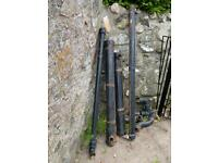 Cast iron roof guttering, roan, down pipes