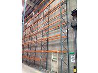5 bay run of dexion pallet racking 9.4M high( storage , shelving )