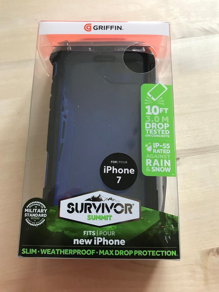iPhone 7 Griffin Survivor case.