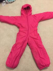 Girls Outdoor Padded All-in-one