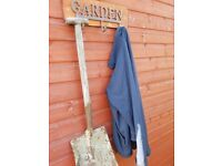 garden hooks for hanging your garden tools rustic cast iron mounted on wood