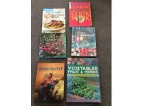 Gardening and cookery books