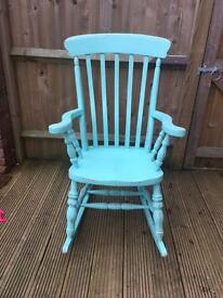 Solid oak rocking chair shabby chic