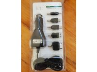 Universal car charger with multiple outlets