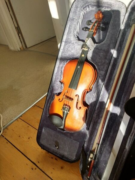Yamada half-size violin with padded case and bow.  Good condition., used for sale  Cambridge, Cambridgeshire