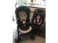 Silver Cross travel system , comes with carrycot , car seat , with hood , full booklet instructions