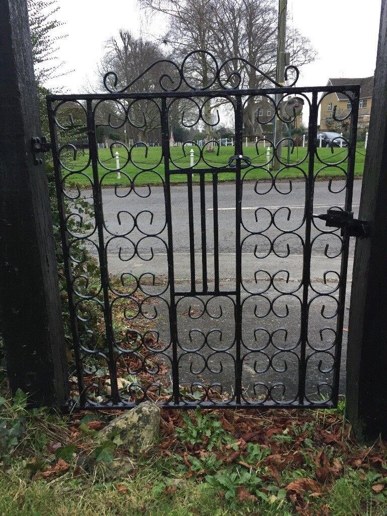 2 small iron gates