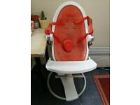 Second-hand Bloom Fresco Highchair - White With Orange Seat - Complete