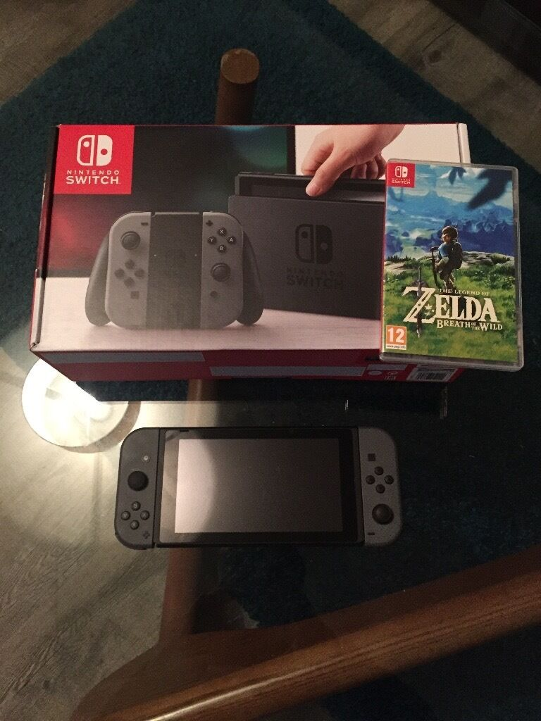 Nintendo Switch With Zelda Breath Of The Wild In Mile End London Console Bow 1 2
