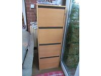 Filing cabinet. No longer has key for the lock, otherwise in great shape..