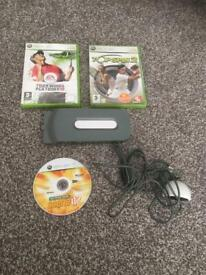 XBOX 360 2x Wireless Controllers + WITH A-C-E- V3 - 17 Games