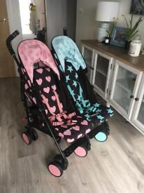 Like new Cosatto Lovestar double pushchair