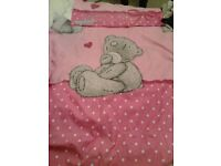 me to you bear curtain and quilt cover set