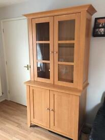 Solid Beech Display Cabinet