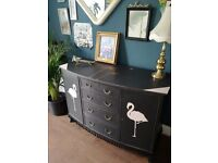 Vintage sideboard drinks cabinet chest of drawers
