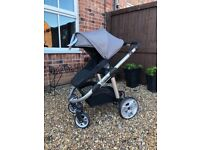 (Brand new) iCandy pram chassis with stroller, carrycot and accessories
