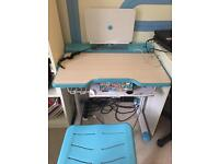 Ergonomic height adjustable kids study table and chair