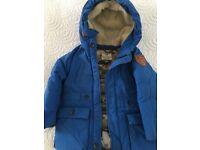 Designer genuine Scotch Shrunk winter coat really thick but light, for a boy 3-4 yrs, colour Blue
