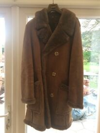 Men's Classic Genuine Luxury Sheepskin Coat - Made in England
