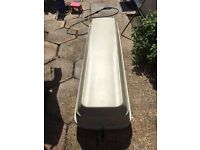 Karrite roof box with mont blanc roof bars