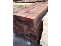 2.4mtr 8x4 pressure treated sleepers £15