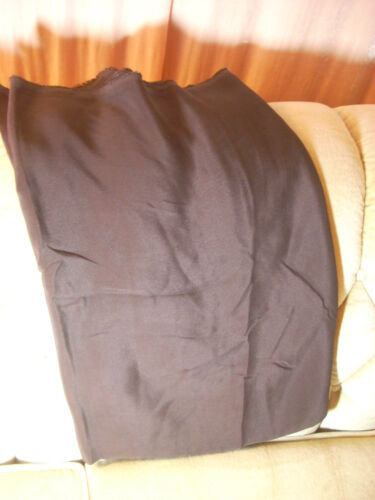 "100% SILK Fabric Dress-wt Faille Material 3 yards x 44"" wide Espresso GORGEOUS!"