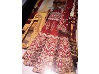 Traditional bridal lengha