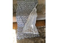 *SOLD - pending collection* 2 pairs of beautiful blue patterned curtains