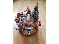 VERY RARE Mickey Mouse Christmas Snow Globe For Sale