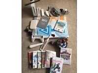 Nintendo Wii Console + 8 Games + Skylanders + Dance Mat + More